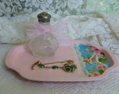 Sweet Vanity Tray, Blue And Pink