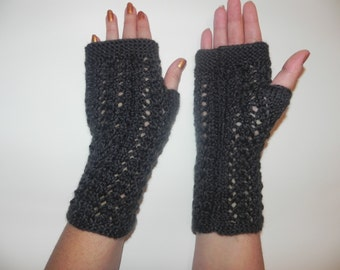 Arm warmers, fingerless gloves, hand knitted,Christmas gift