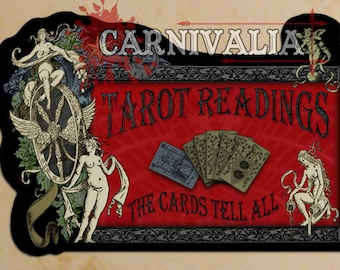 """Tarot Readings Sign """"The Cards Tell All"""""""