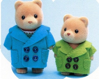 Sylvanian Families 2 sizes Basic Coat Sewing Pattern PDF