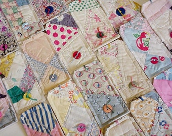 Patchwork Quilted Tags, Feedsack Fabric Cutter Quilt Large Gift Wrap Tags, Place Cards, Hang Tags, Package Labels,Unique Tags itsyourcountry