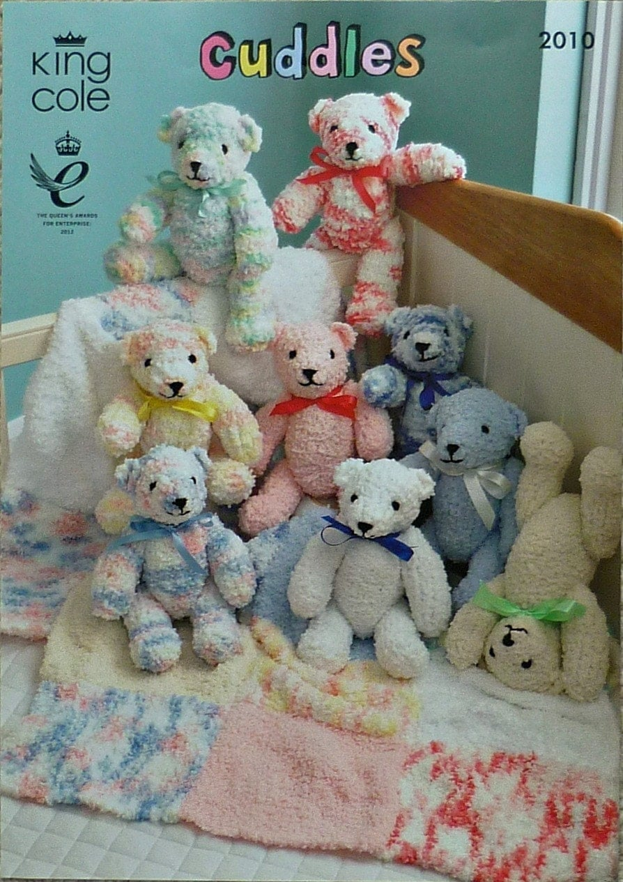 Knitting Patterns For Shawls And Wraps : Soft Toy Knitting Pattern K2010 Teddy Bear & Blanket Knitting