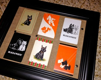 6 vintage playing cards SCOTTIE dog random collection  for framing or other uses