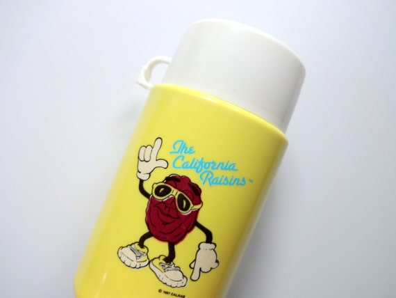 Vintage The California Raisins Thermos 1987