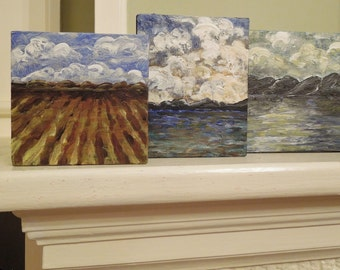 Set of 3 Paintings for Less than 100 Bucks:)