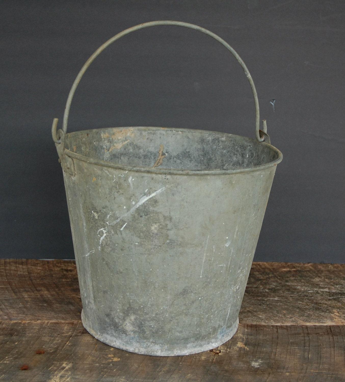 Vintage galvanized bucket with handle for Galvanized well bucket