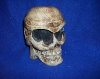 human wood skull weird decoration office home decor skeleton