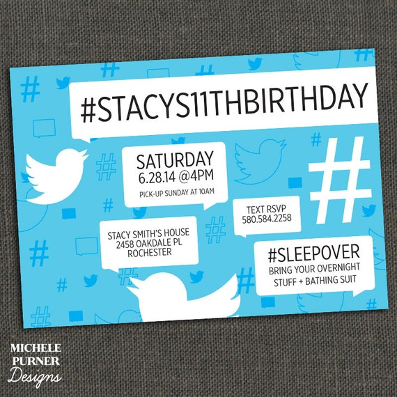 Items Similar To HASHTAG Twitter Inspired Birthday Party