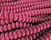 200 Vintage Hot Pink Plastic Rondelle Beads Bd930