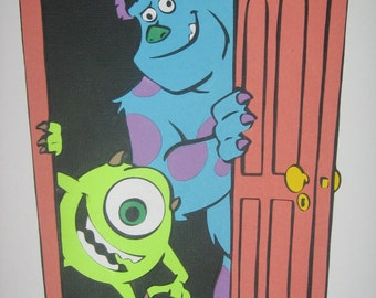 Monsters Inc birthday party decorations, banner, favor bags, Sully room decor