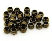 Bronze Tone Brass Crimp Beads With 1.8mm Hole 3x3mm - 200Pcs - FJ26330