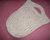 Crochet Medium Size Market/Shopping/Tote Bag in Natural Cotton