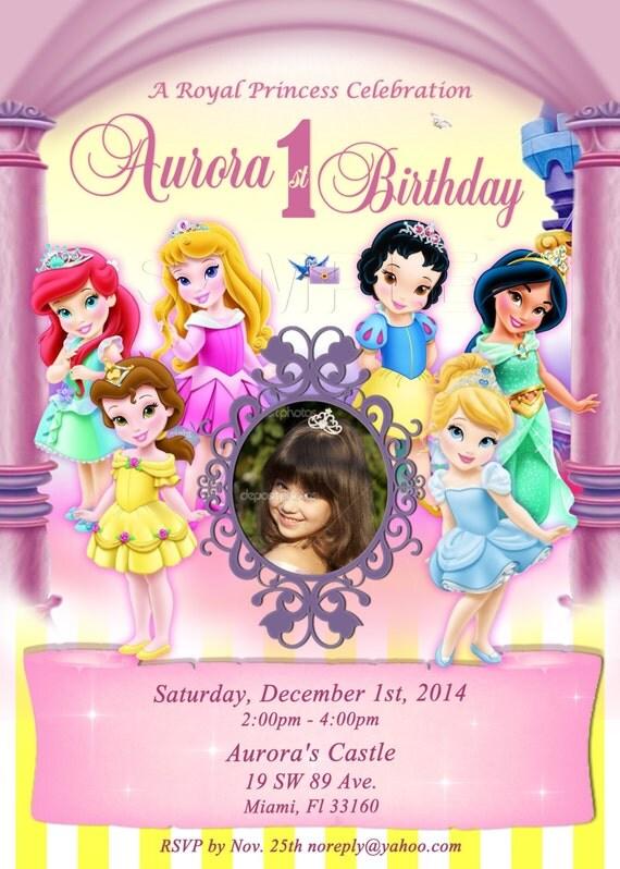digital disney toddler princess invitation princess, Birthday invitations