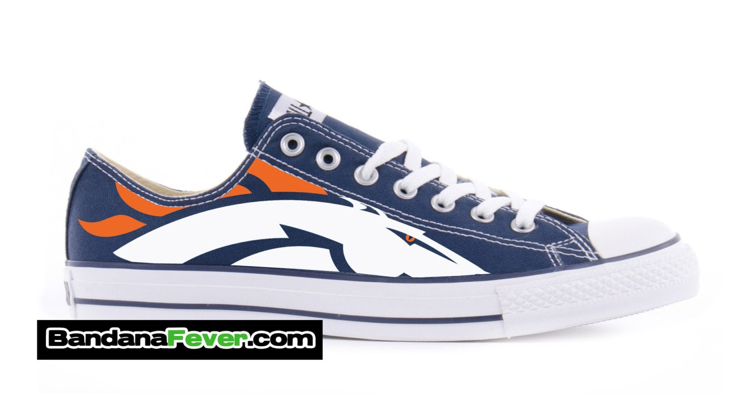 converse low navy denver broncos by bandana by
