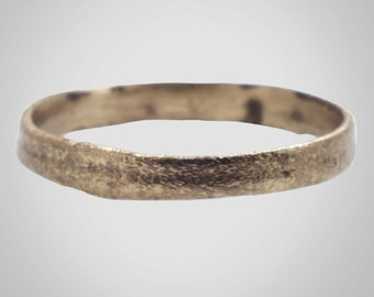 Ancient Viking Wedding Band Jewelry C.866-1067A.D. Size 9 1/2  (19.6mm)(Brr449)
