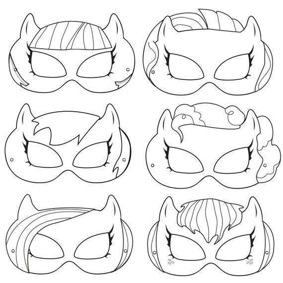Pony Printable Coloring Masks pony