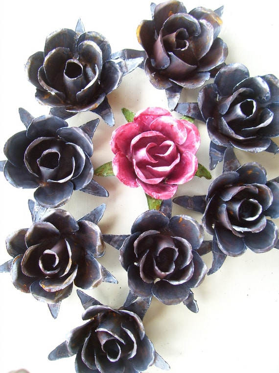 metal roses craft supplies by cedarfever on etsy