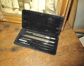 Vintage Drafting Tool set in case. Klasse K4