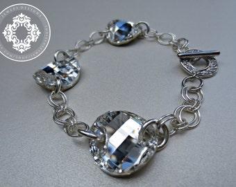 Swarovski Crystal, Cubic Zirconia & Sterling Silver Bracelet, Bridal Jewelry,Weddings, Wedding Trends 2013, Women's bracelets,