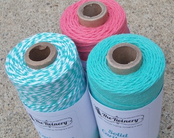 Bakers Twine - Twinery Twine - 100% Cotton - Caribbean Dream - Three Colors - Your Choice of Amount