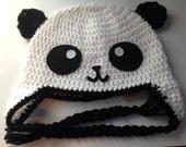 Crochet Panda Hat; Child-Adult sizes