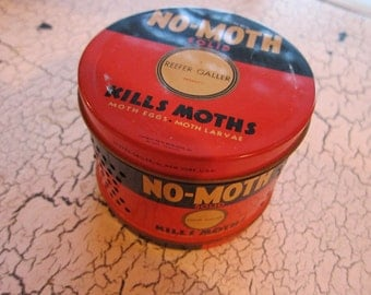 Vintage No Moth Vaporizer Tin