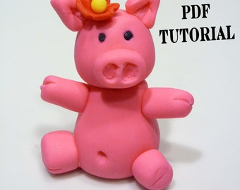 INSTANT DOWNLOAD PDF How to guide Fondant Gumpaste Figurine Cake Topper Tutorial
