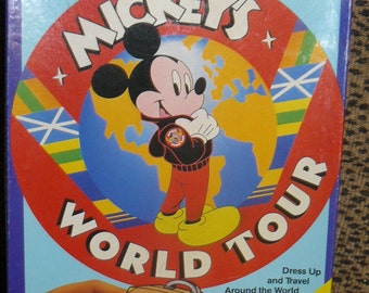 Vintage MICKEY'S WORLD Tour  Colorforms Toy Mint In Box Disney Mickey Mouse