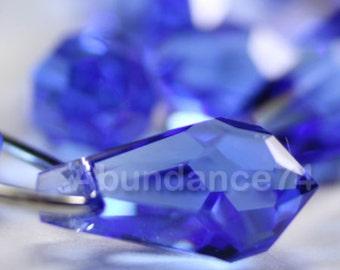 6pcs Swarovski Crystal 6000 13mm Teardrop Pendant Sapphire