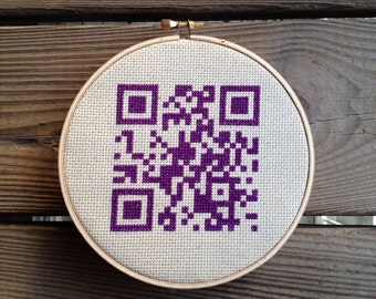QR code cross stitch - Home Sweet Home