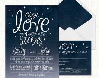 In The Stars Wedding Invitation PRINTABLE