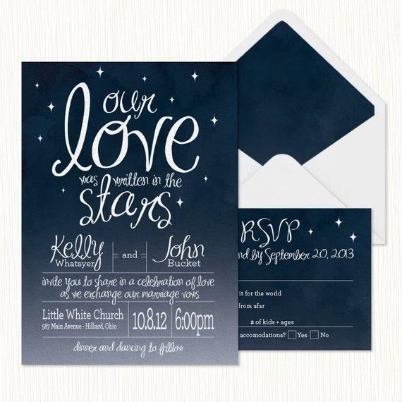 Star Night Wedding Theme: In The Stars Wedding Invitation PRINTABLE