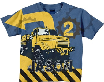 Construction Birthday Shirt, Personalized Dump Truck Birthday Shirt, Boys Dump Truck T-Shirt, Birthday Shirt, Dump Truck Shirt