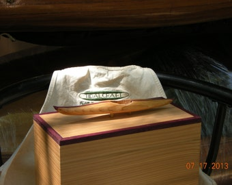 Keepsake Large Rectangular Wood Box, features Cedar with  Purple Heart Trim. Removable Lid.