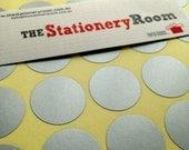 Silver Circle Stickers - 2cm Round Seal Sticker - 120 Silver Circle Stickers