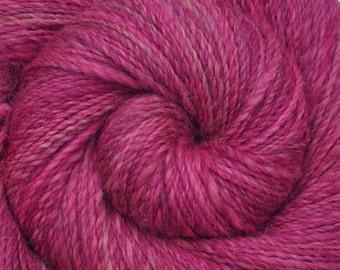 Handspun yarn - Handpainted Alpaca / Merino wool, DK weight - HOT PINK - 260 yards