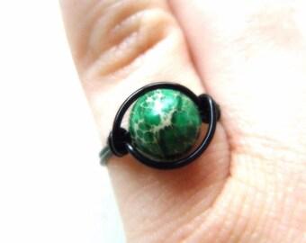 Earth Ring - Green Aqua Terra Jasper Ring
