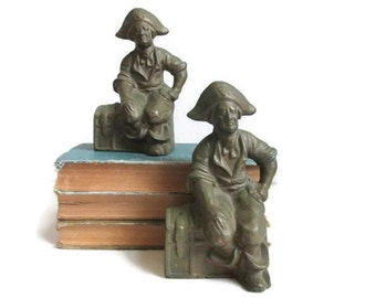 Pirate Bookends Cast Iron Book Holders