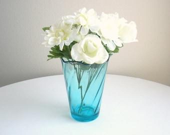 Capri Vase - Vintage Blue Swirl Capri Vase
