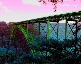 West Virginia Photography, New River Gorge Bridge, Country Photography, Architecture, Bridge Art, Fine Art Photography