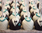 One Dozen Bride and Groom Wedding Cake Pops - Made to Order