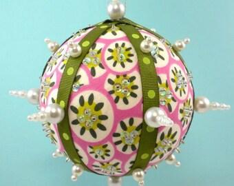 Fabric Christmas Ornaments PDF Pattern Tutorial- Bling Balls by La Todera