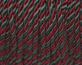 Vintage Red & green rope