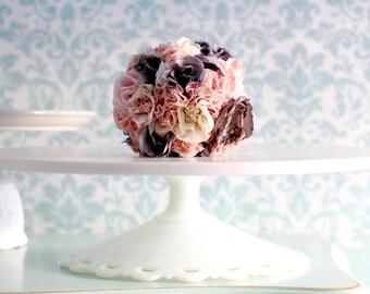 "Art Deco Wedding Cake Stand / 16"" Cake Plate or Dessert Pedestal"
