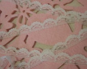 Off White Scallop Lace 1/2 inches wide 5 Yards