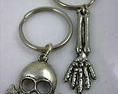 Your Choice Key Chains - Skull and Crossbones or Forearm and Hand