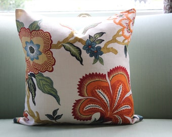 Schumacher Hot House Flowers Pillow Cover 20 Inch