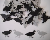 Goose Paper Confetti - 100 pieces - Black And Gray or Your Choice Of Colors