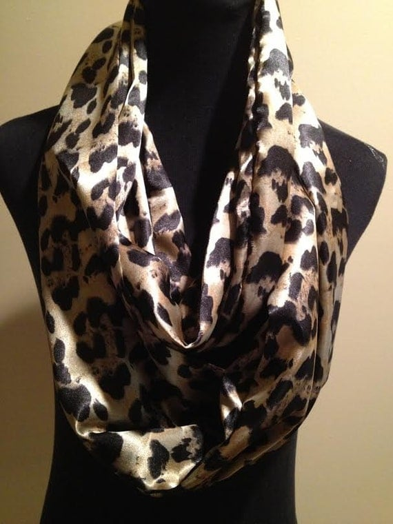 new and silky cheetah animal print infinity scarf must