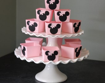 Minnie Mouse Candy Cups, Minnie Mouse Favors, Minnie Mouse Birthday, Minnie Mouse Decorations, 12 Pcs, Pink